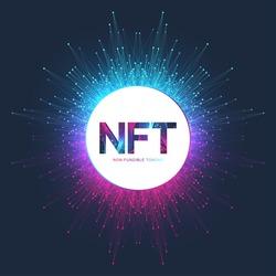 NFT non fungible token. Non-fungible tokens icon covering concept NFT. High-tech technology symbol logo vector