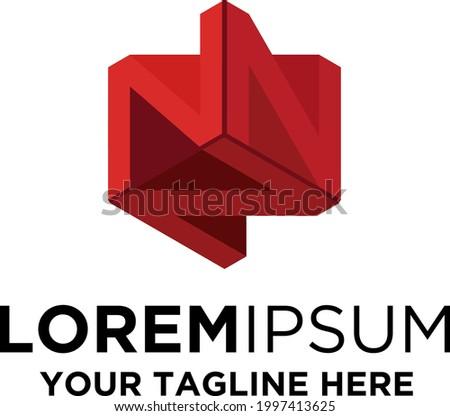 NFT Token Letter N Logo Foto stock ©