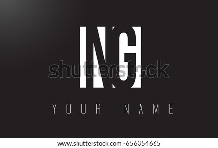 NG Letter Logo With Black and White Letters Negative Space Design.