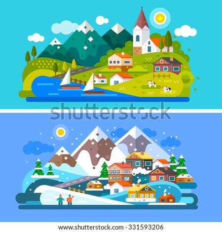 nice alps landscapes mountain