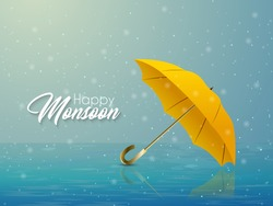 nice and beautiful abstarct or poster for Monsoon with nice and creative design illustration in a background.