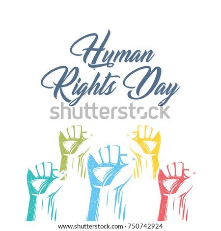 nice and beautiful abstract for Human Rights Day with nice and creative design illustration.