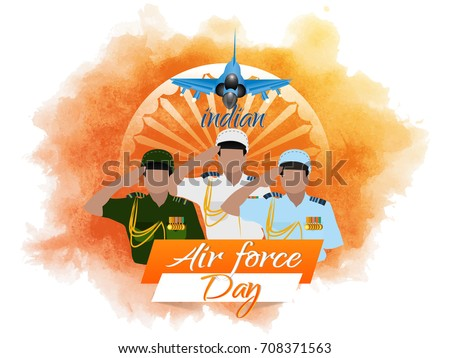 nice and beautiful abstract for Indian Air Force Day with nice and creative design illustration in a background.