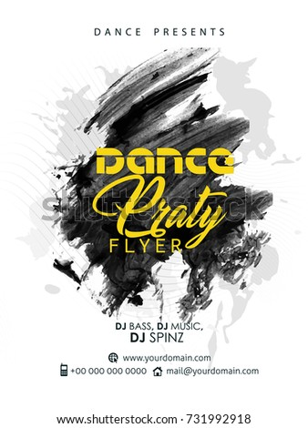 nice and beautiful abstract or Dance Party Flyers with nice and creative design illustration.