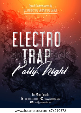 nice and beautiful design for a Electro Trap Party Night Flyer with creative illustration.