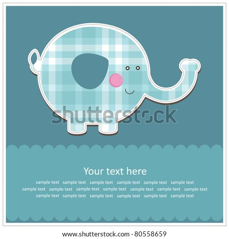 nice baby card. vector illustration