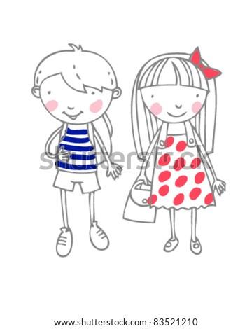 nice boy and girl