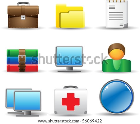 Nice bright icons for computer and internet. Vector.