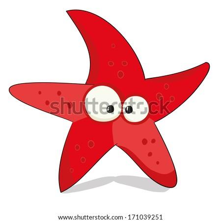 nice cartoon sea star