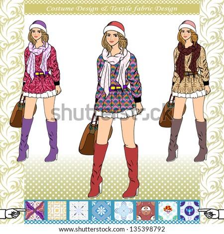 nice fashion girls design ,vector
