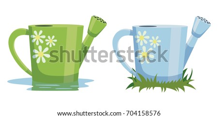 nice garden watering can vector
