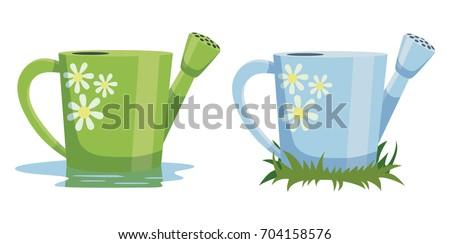 nice garden watering can vector