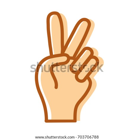nice hand with peace and love