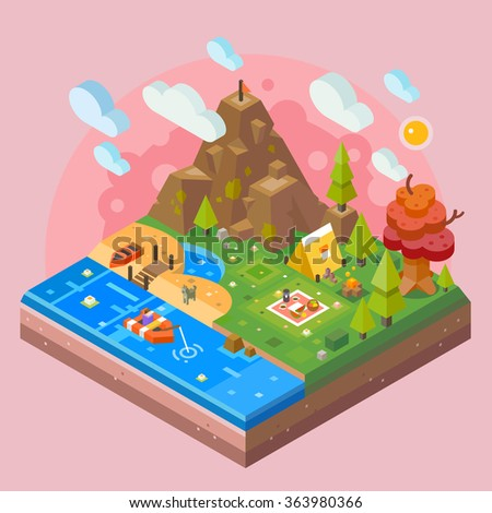 nice nature tile isolated