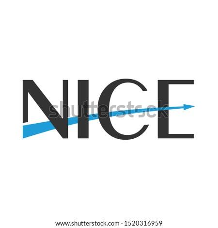 nice or nice marketing logo icon illustration