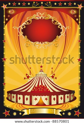 Nice orange and black circus poster. a background on circus theme for you
