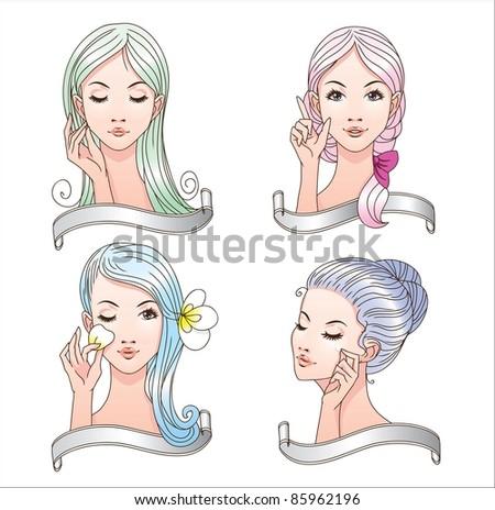 nice set of icons of women