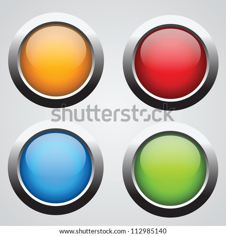 Nice set of round buttons with glossy effect. Buy it for web using!