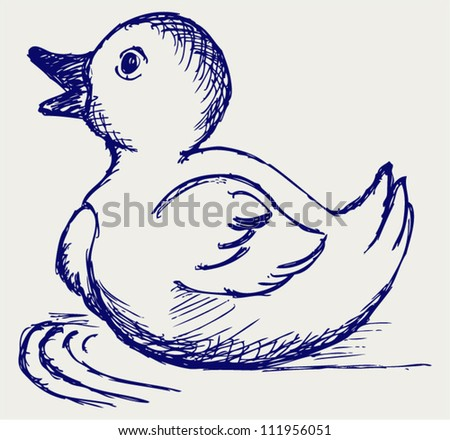 Nice small duckling. Doodle style