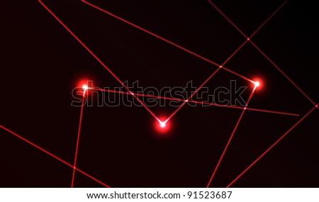nice vector laser light in red