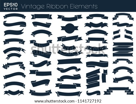 stock-vector-nice-vintage-ribbon-elements-collection