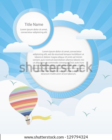 nice weather background with speech bubble for sample text Vector