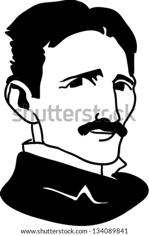 nicola tesla   black and white