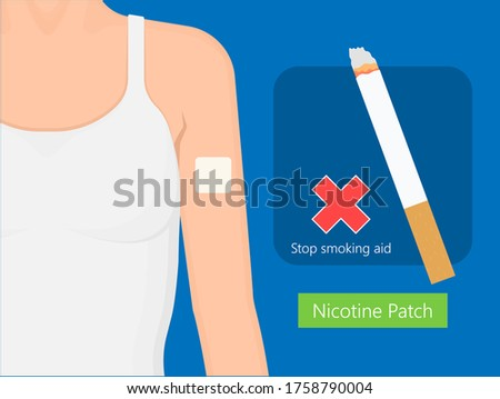 Nicotine patch for stop smoking therapy Stock photo ©