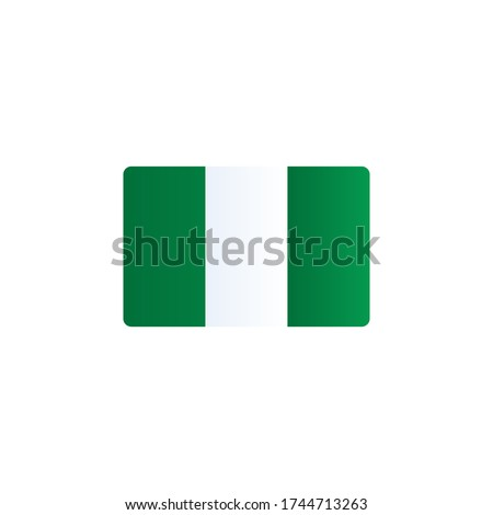 nigeria flag vector. country flag isolated on white background