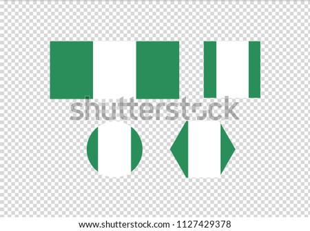 Nigeria national flag symbol coat of arms green and white country emblem africa