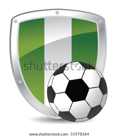 nigeria shield and soccer ball