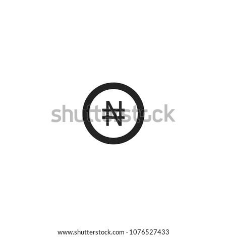 Nigerian naira coin icon