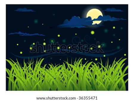 night - stock vector