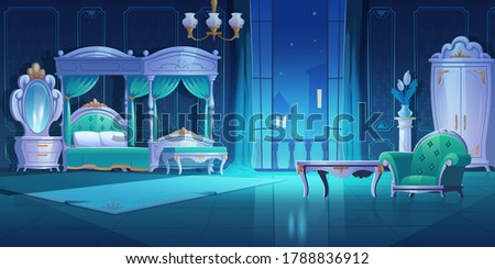 night bedroom  baroque style