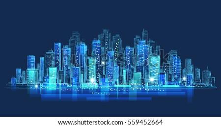 night city background hand