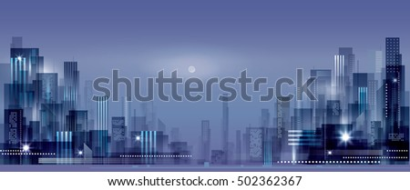 night city background urban