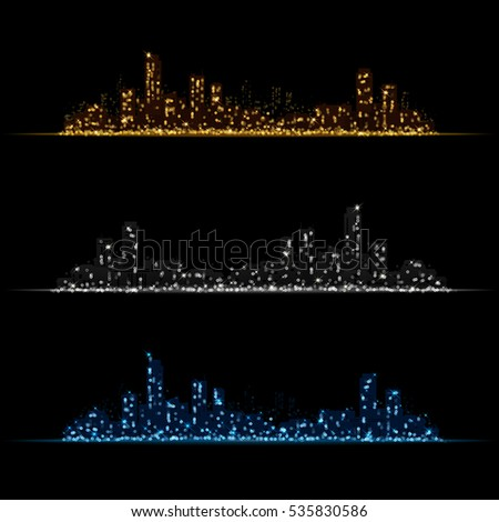 night city   background with