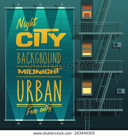 night city banner on a wall