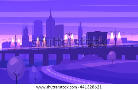night city landscape with