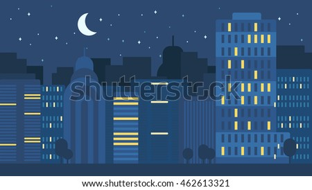 night city life concept town