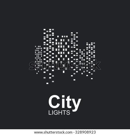 night city lights icon
