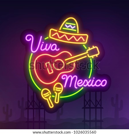 icdn images usseek #0: stock vector night city sign neon cinco de mayo realistic neon sign viva mexico banner logo emblem and