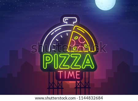 night city sign neon pizza