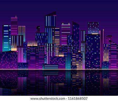 night city skyline skyscraper