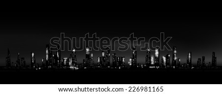 night city skyline vector eps