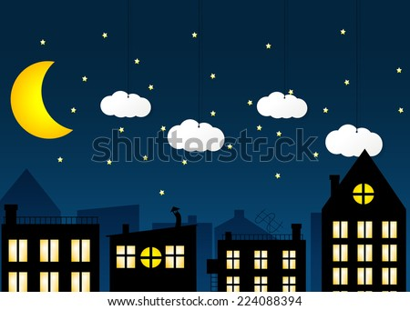 night city vector eps 10