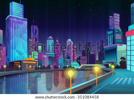 night city  vector illustration