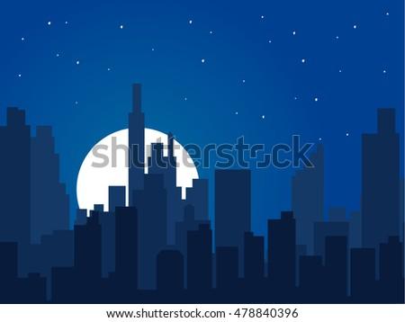 night city vector illustration