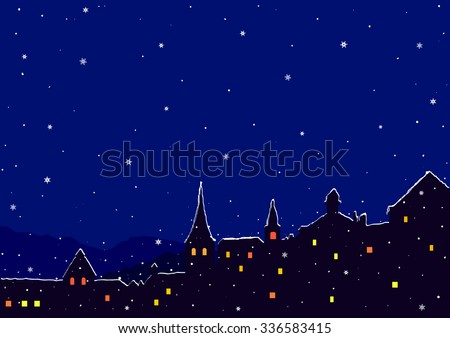 night city with buildings and