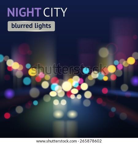 night city with traffic lights
